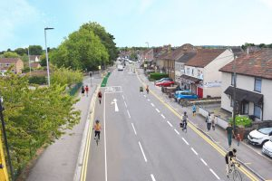 An artists impression of Station Road Yate