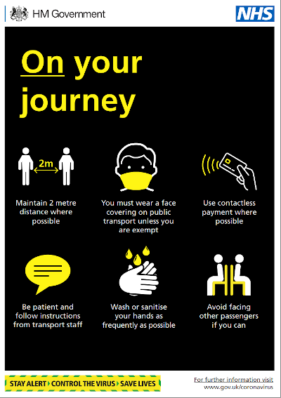 On your journey (public transport to school) infographic - COVID-19