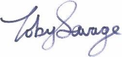 Toby Savage signature